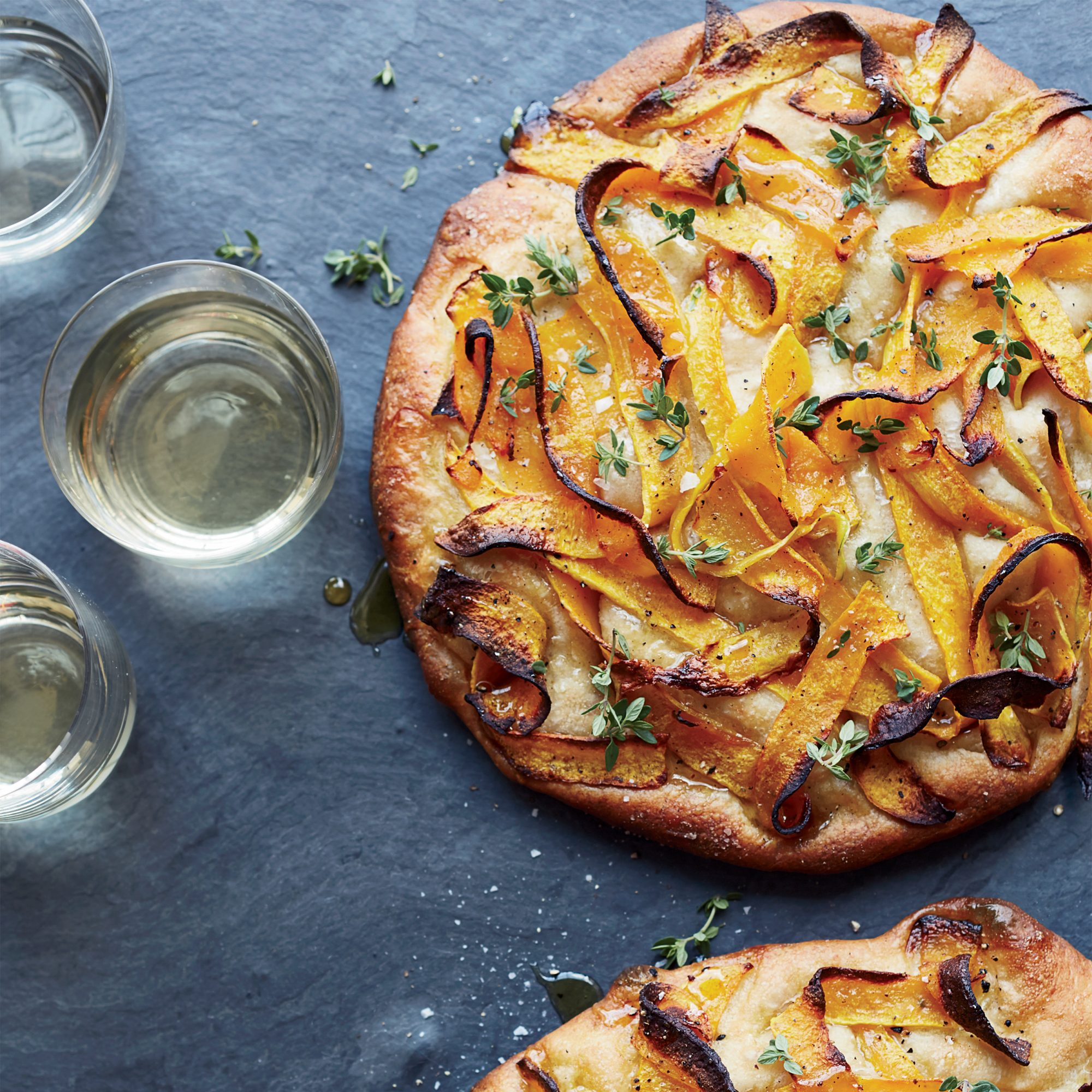 Focaccia with Roasted Squash