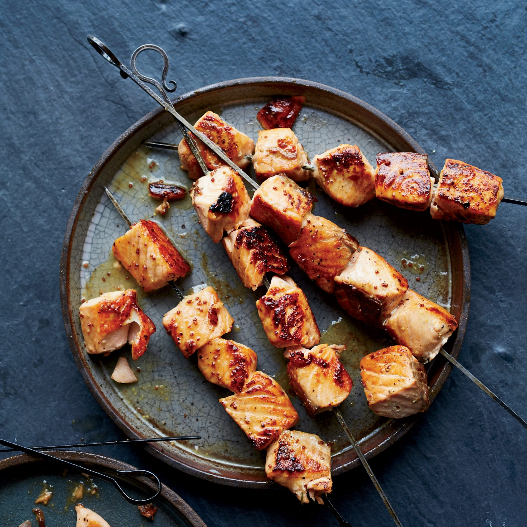 Maple-Dijon Salmon Skewers