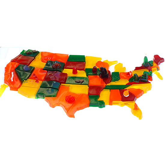 Jell-O Map of America