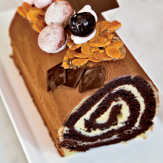 Cherry-and-Chocolate Bûche de Noël