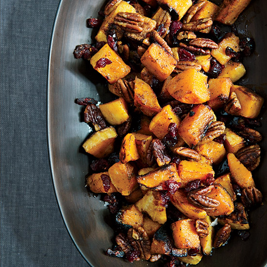 Roasted Butternut Squash with Spiced Pecans