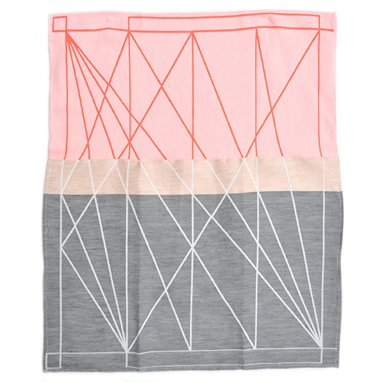 Geometric Home Design: Color Fest Tea Towel