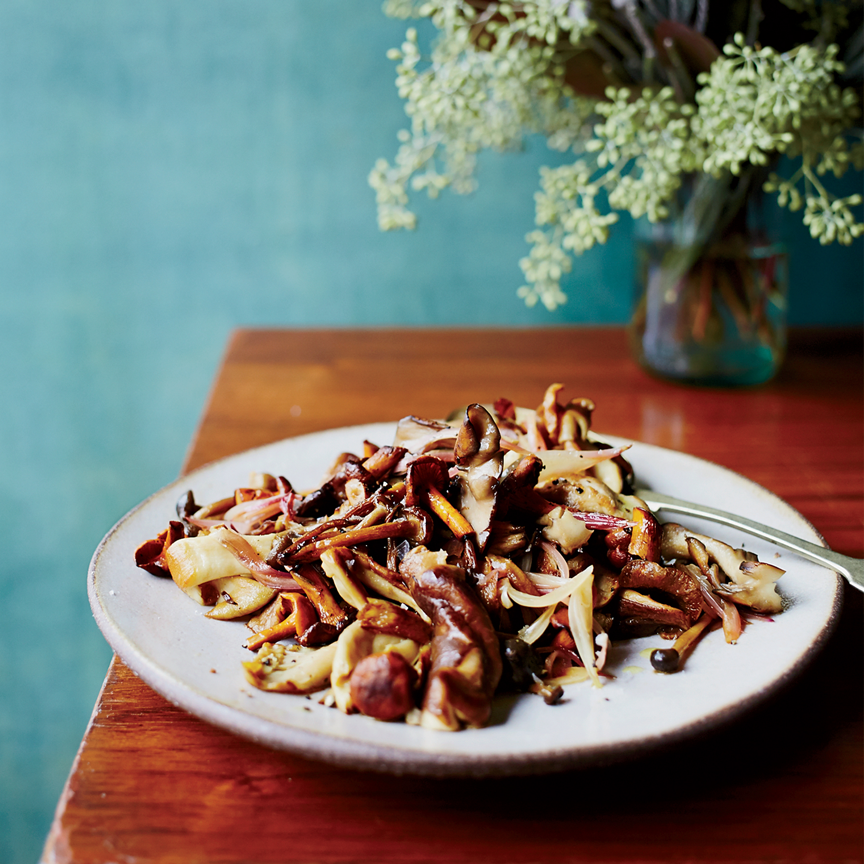Mushrooms with Pickle-Brine Butter