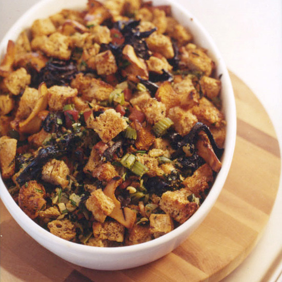 Wild Mushroom Whole Wheat Stuffing with Tarragon