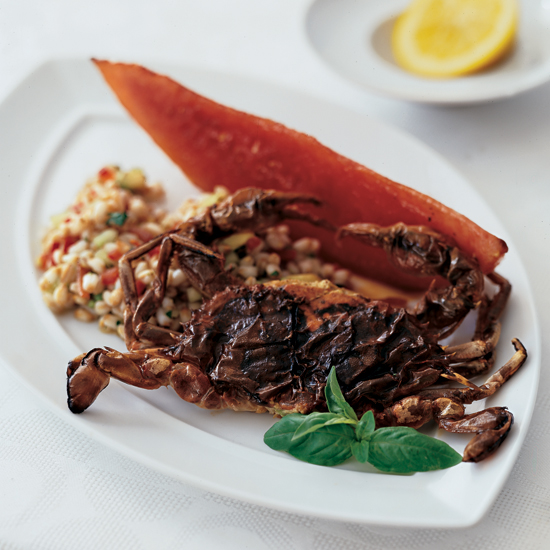 Soft-Shell Crabs with Farro Salad