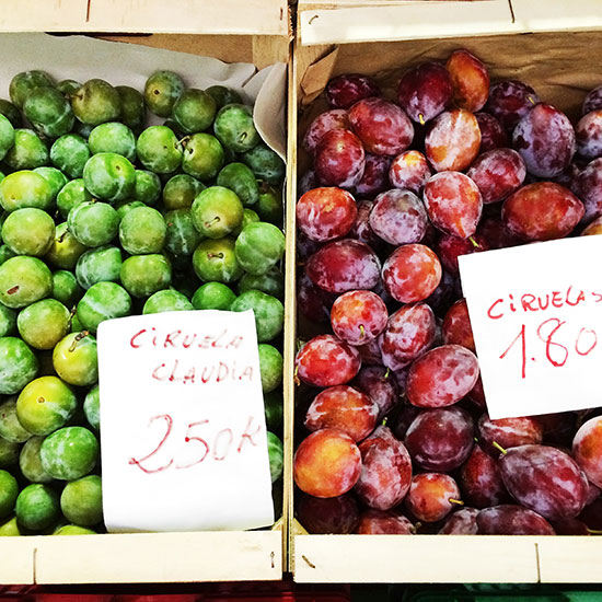 Plums at Arenal Market