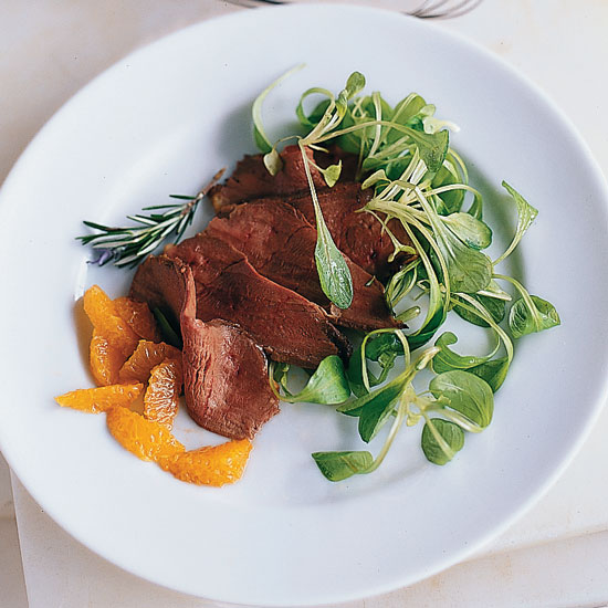 Mazzio's Smoked Duck with Tangerine-Rosemary Salad