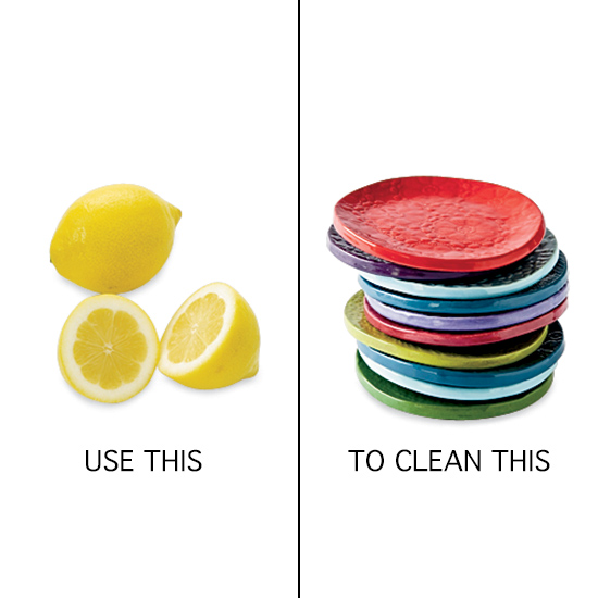 Use Lemons to Rub Dishes