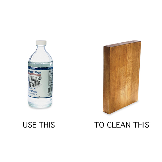 Use Vinegar to Clean Cutting Boards