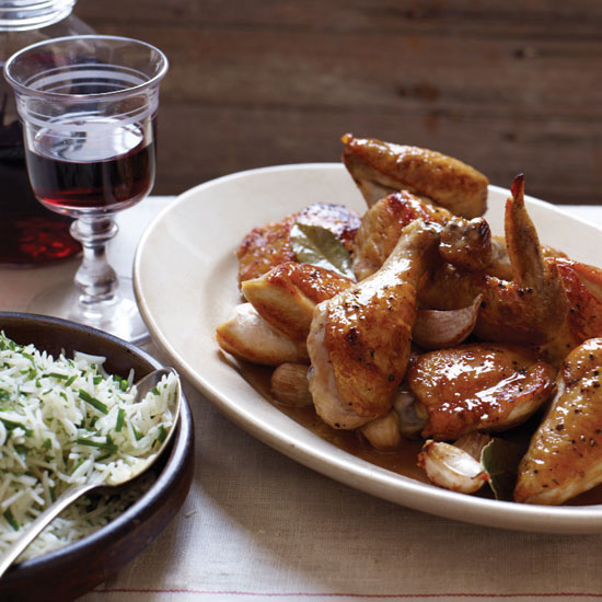 Lyon-Style Chicken with Vinegar Sauce