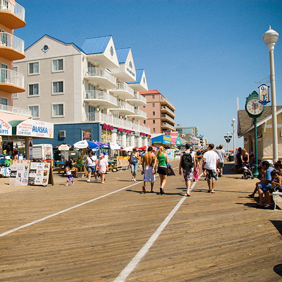 America's Best Boardwalks: Ocean City Boardwalk; Ocean City, MD