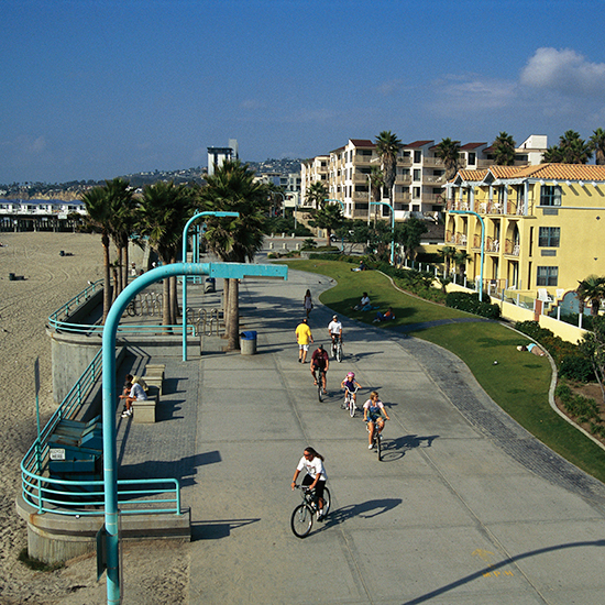 Mission Beach Boardwalk; San Diego