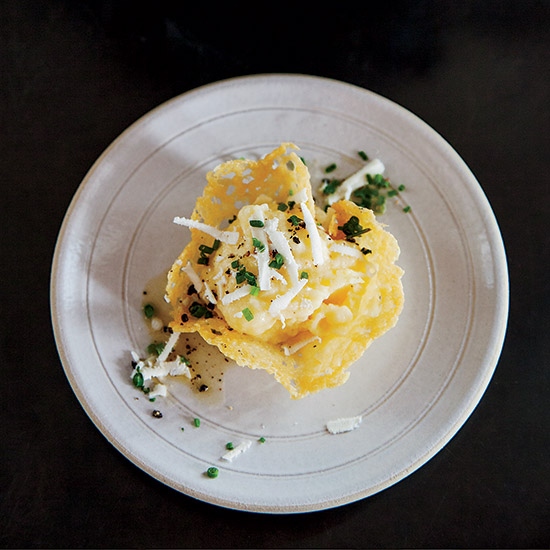 Crispy Frico Cups with Polenta and Brown Butter
