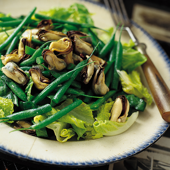 Mussel and Sea Bean Salad