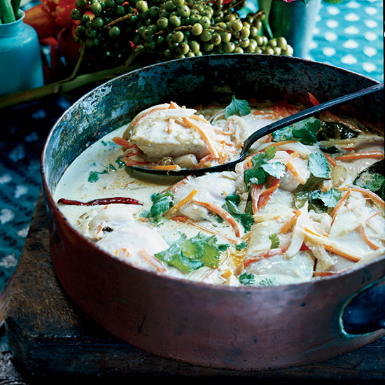 Mahimahi Coconut Curry Stew with Carrots and Fennel