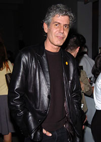 Anthony Bourdain (Brasserie Les Halles, NYC,) star of Food Network's A Cook's Tour.