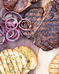 T-Bone Steaks with Texas Toast