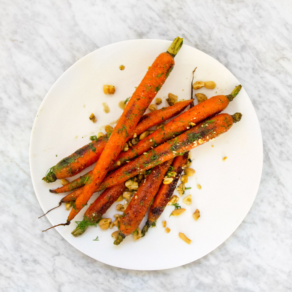 Maple–Cider Vinegar Roasted Carrots