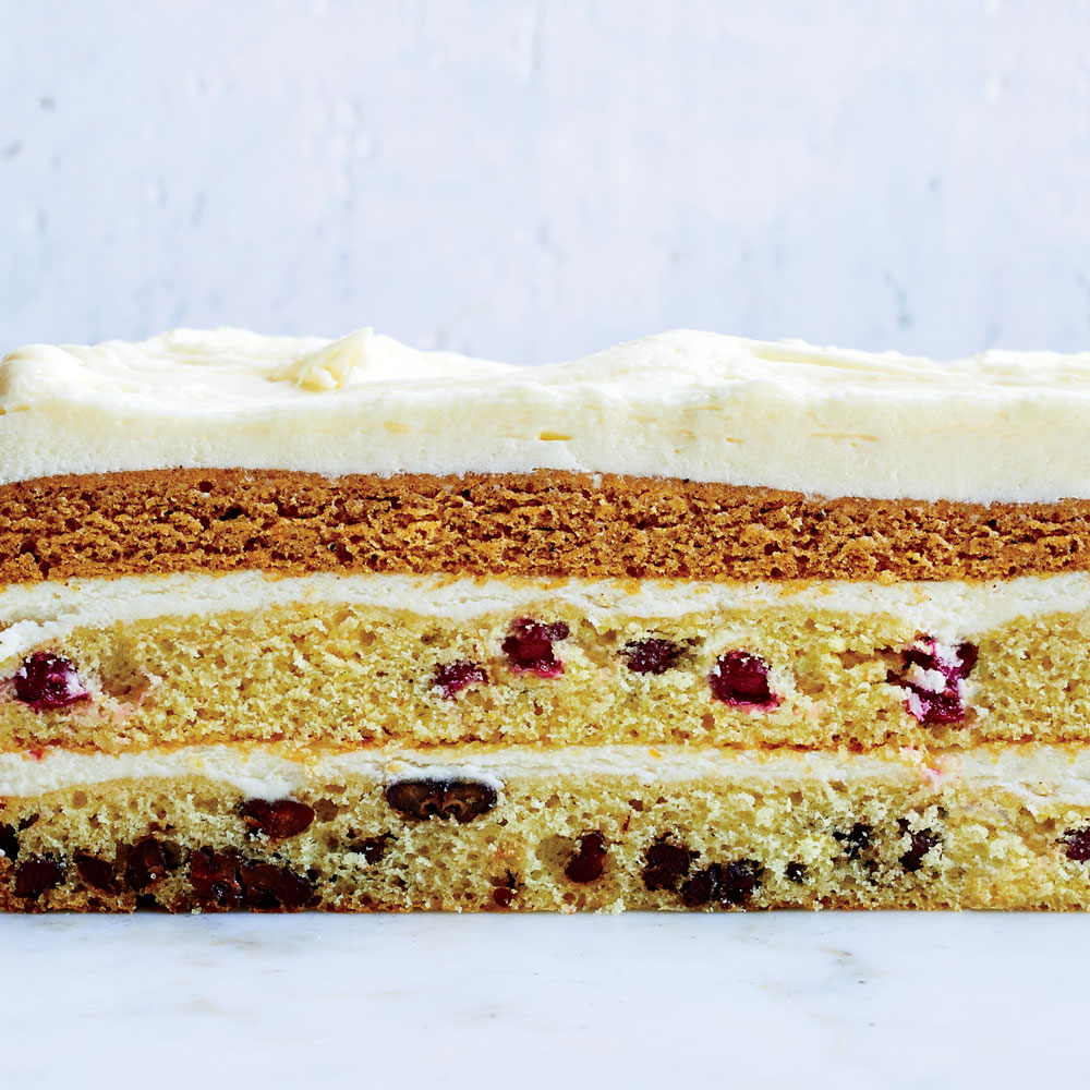 Three-Layer Thanksgiving Cake
