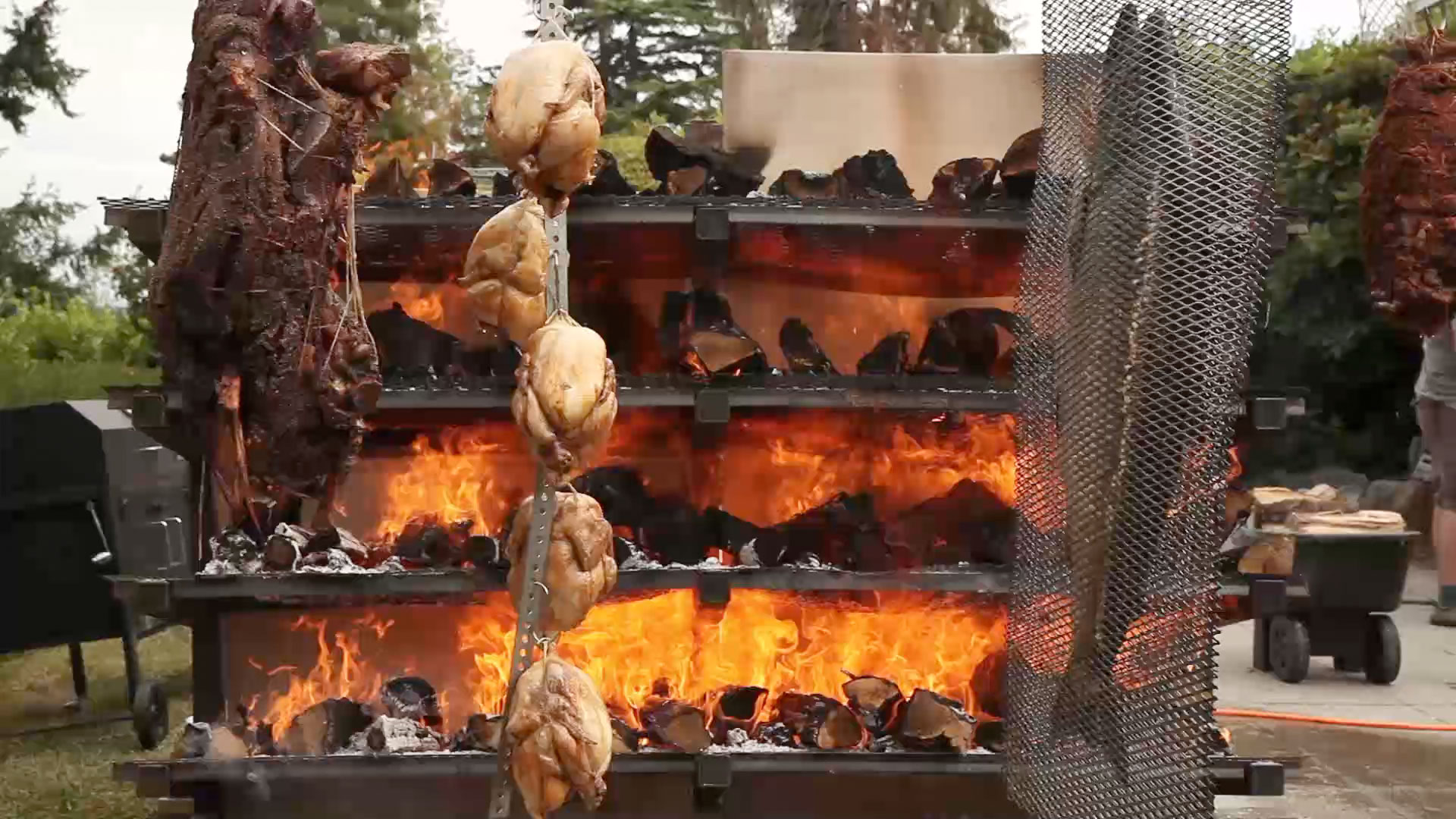 Warm Up with This Roaring, Roasting Wall of Fire