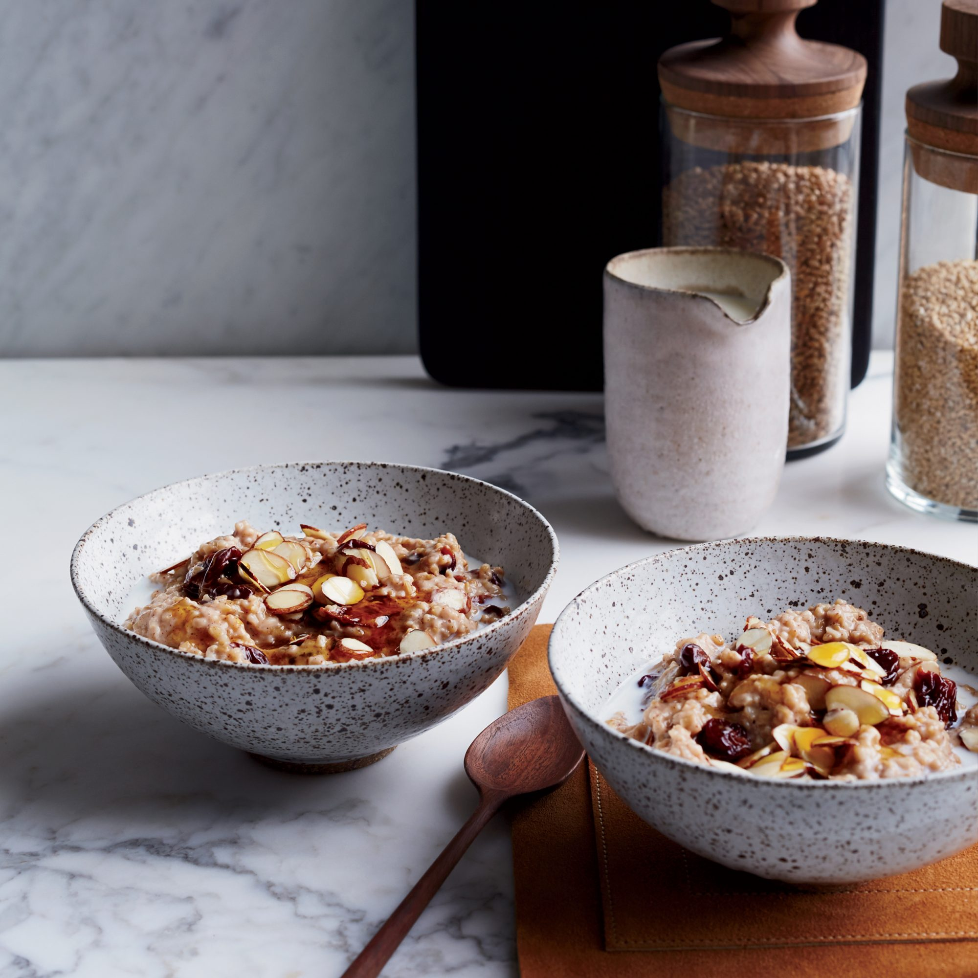 Creamy Steel-Cut Oats with Dried Cherries and Almonds