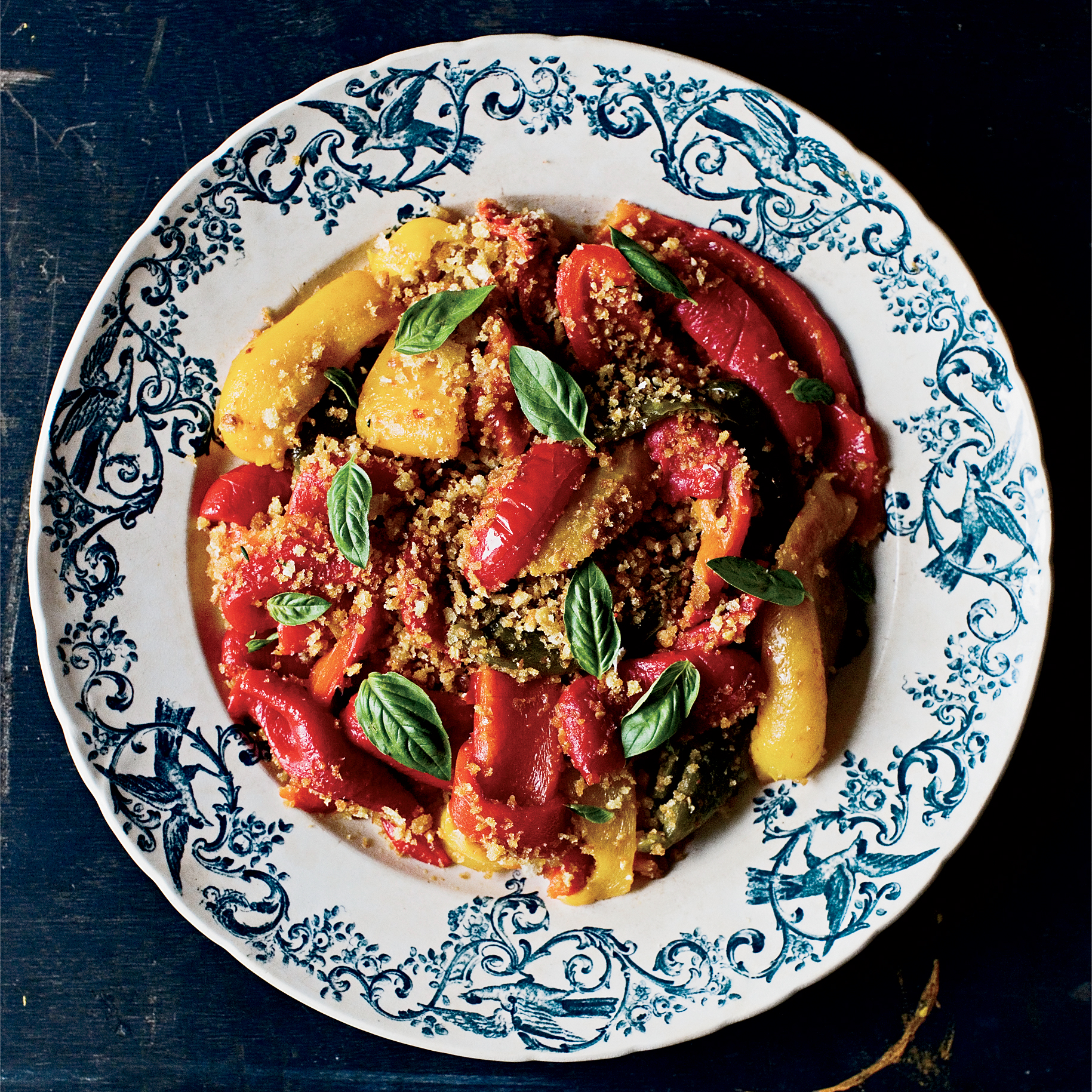 Roasted Peppers with Garlicky Breadcrumbs