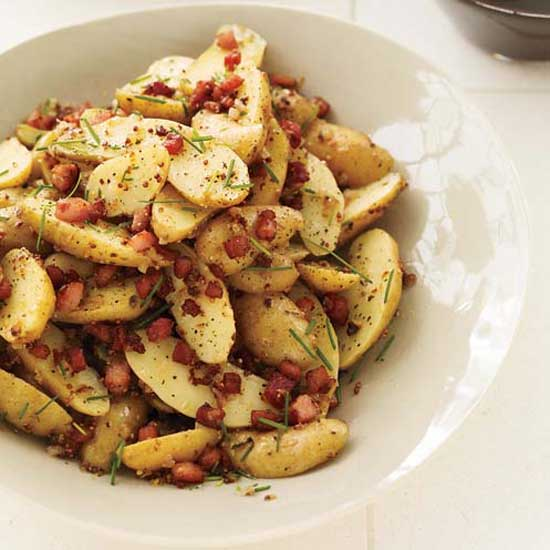 Warm Potato Salad with Pancetta and Brown Butter Dressing