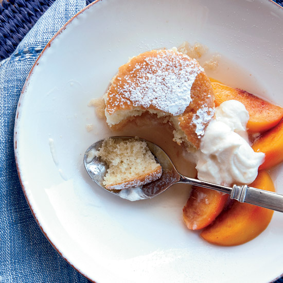 Peach Shortcake with Vanilla Whipped Cream