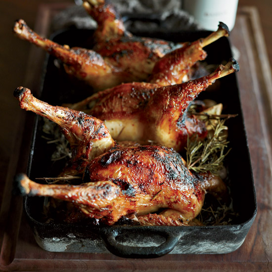 Honey-and-Lemon-Glazed Roast Chicken. Photo © Fredrika Stjärne