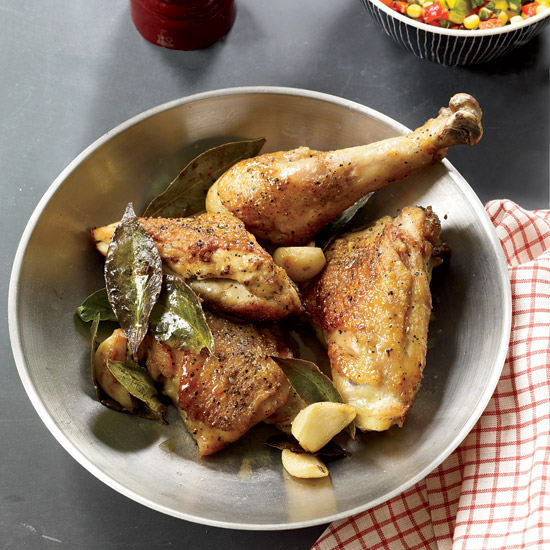 Pan-Roasted Chicken with Corn Relish