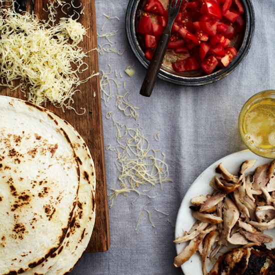 Grilled-Chicken Quesadillas