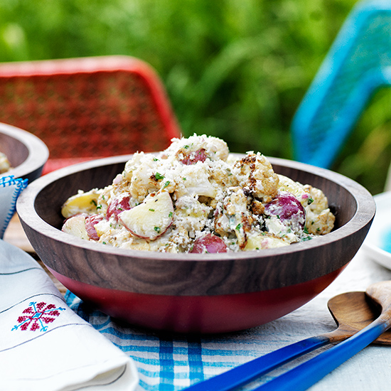 Potato-and-Roasted-Cauliflower Salad