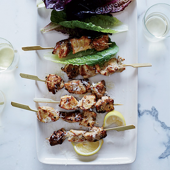 Chicken Caesar Skewers