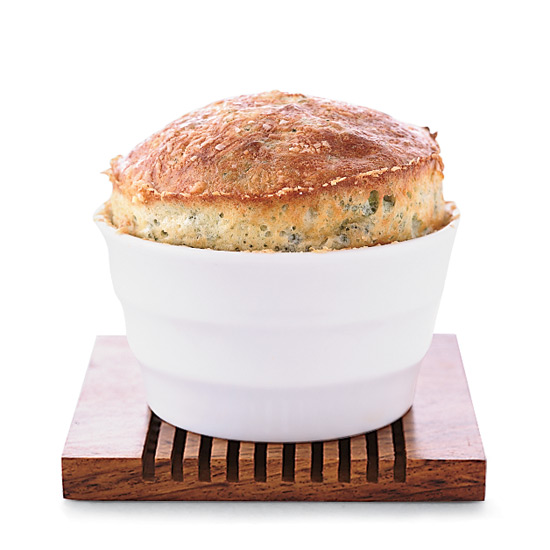 Spinach and Roquefort Soufflés