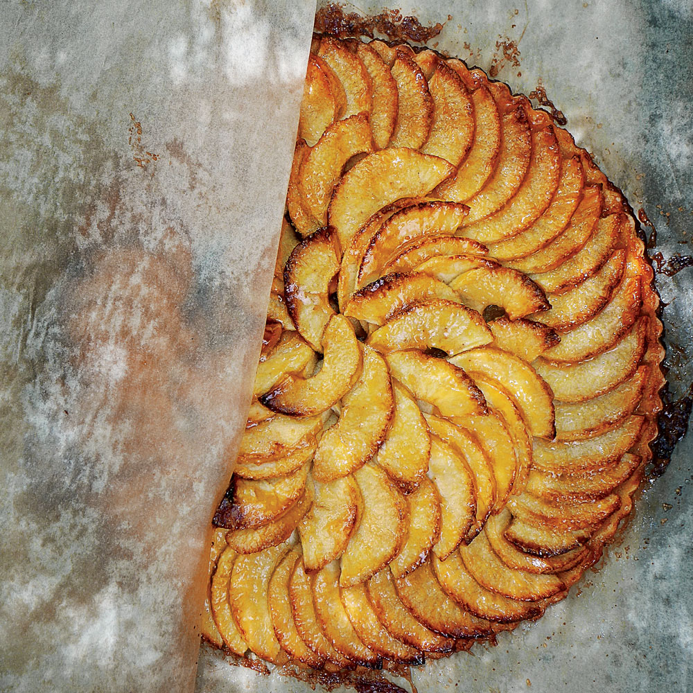 Apple Tart with Apricot Glaze