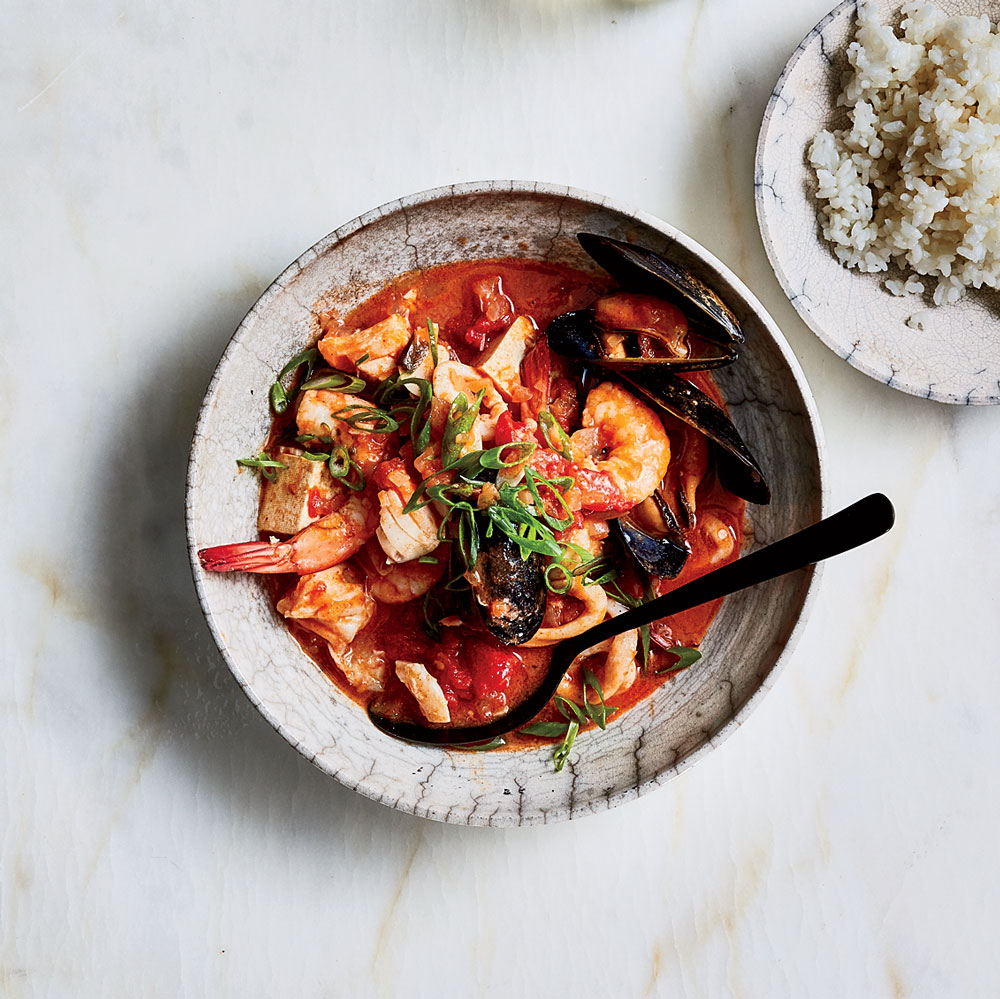 Gochujang Cioppino Recipe Justin Chapple Food Wine