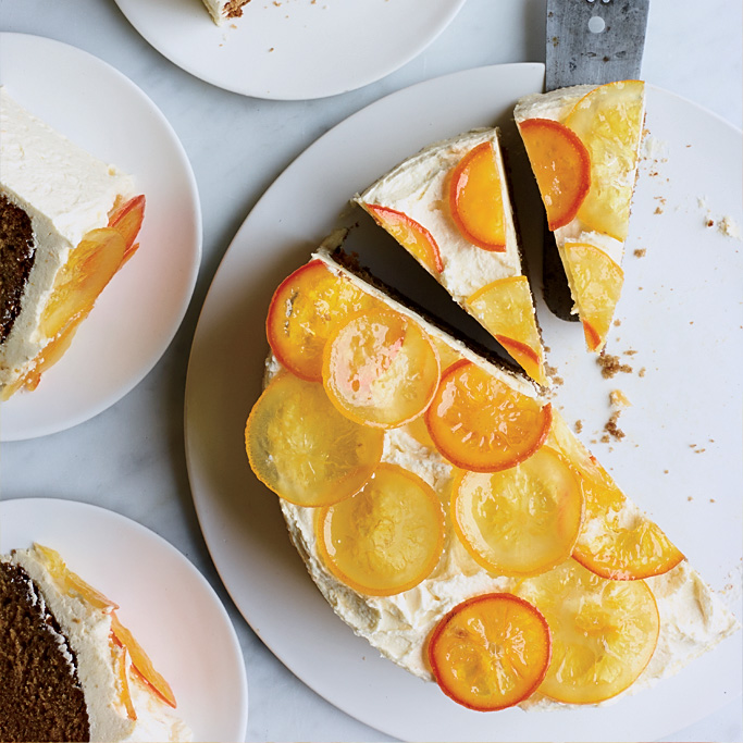 Honey Cake with Citrus Frosting