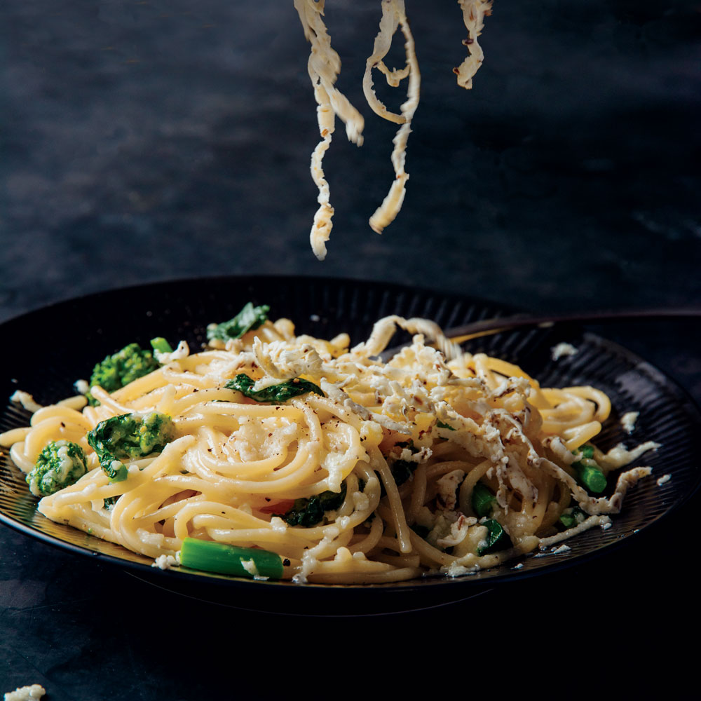 Spaghetti with Cacio e Pepe Butter