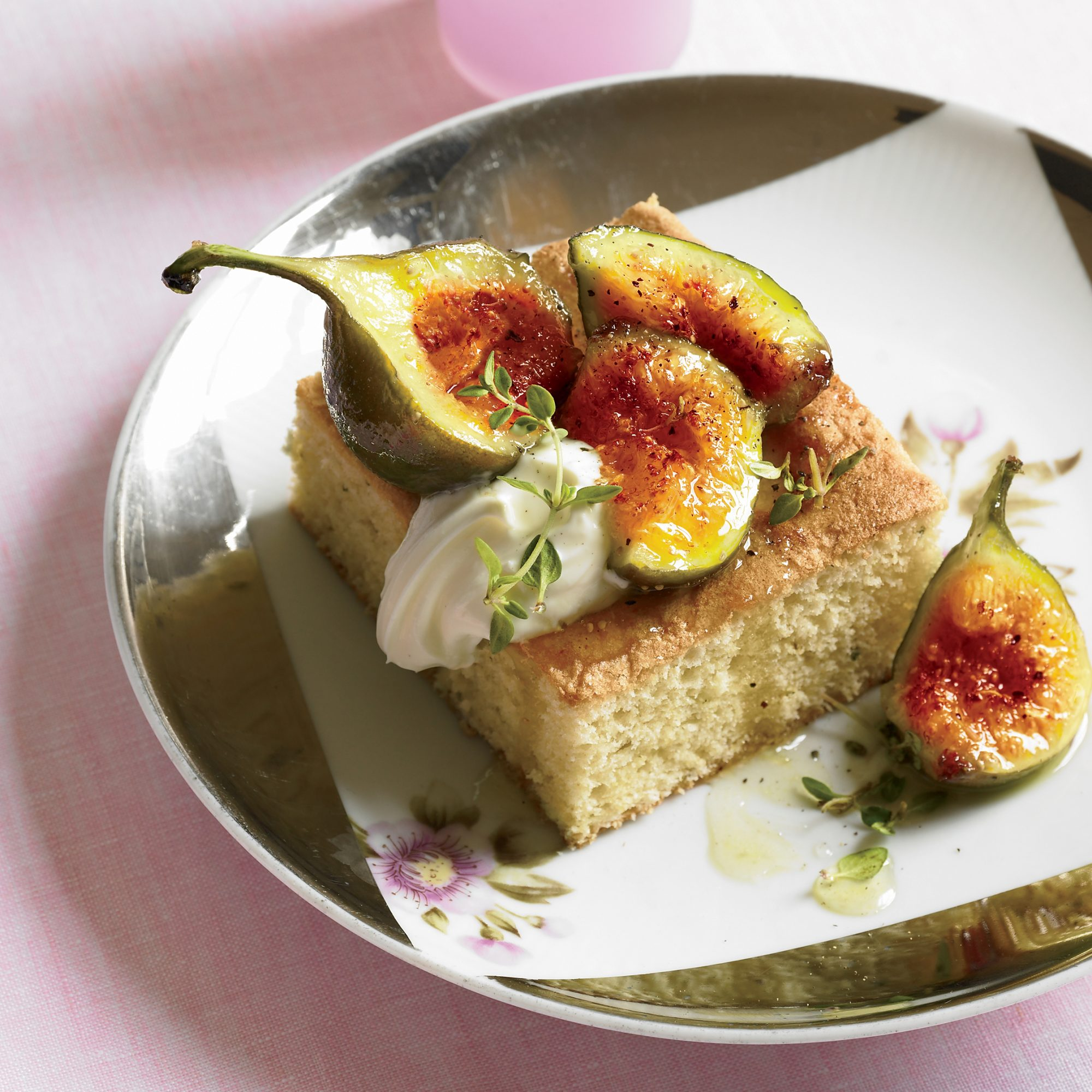 Olive Oil-Thyme Cake with Figs and Black Pepper