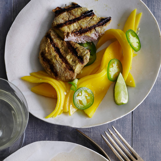 Tandoori Pork with Gingered Mango Salad