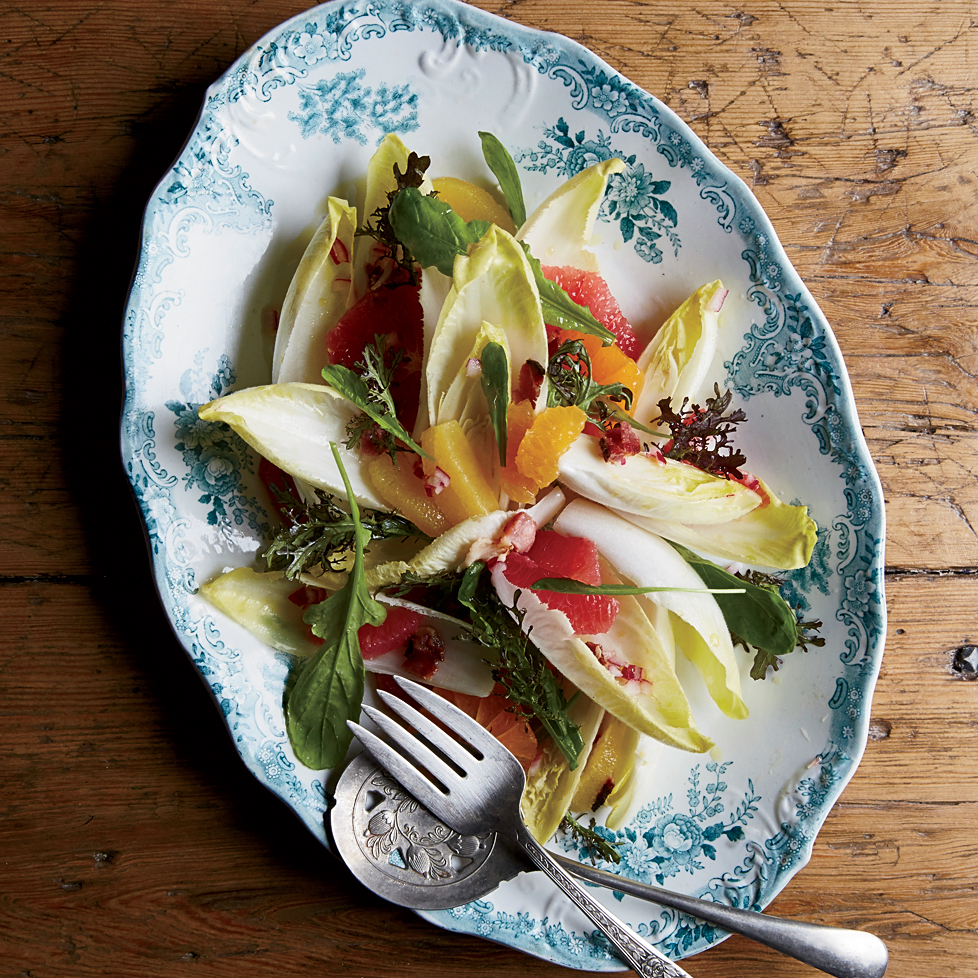 Heirloom Tomato Salad with Anchovy Vinaigrette Recipe   Food & Wine