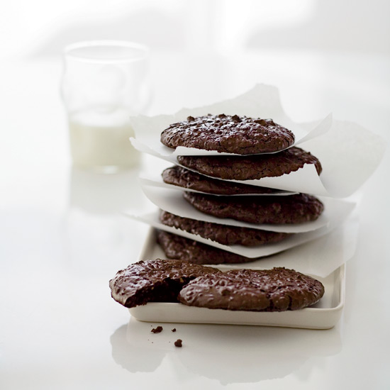 Fudgy Chocolate-Walnut Cookies