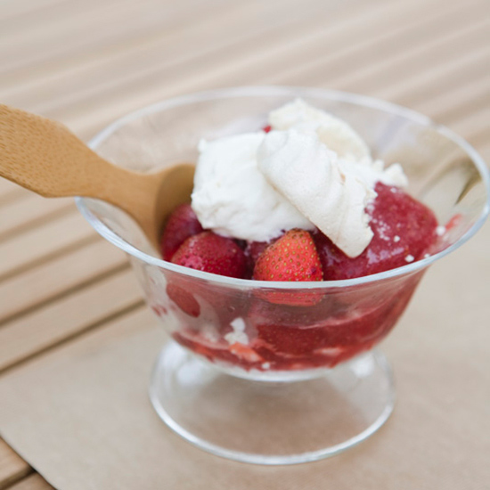 Strawberry-Red Wine Sorbet with Crushed Meringue