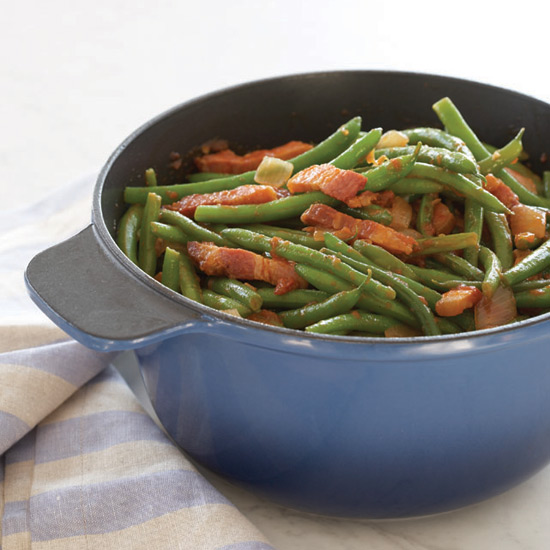 Spicy Green Bean with Bacon and Tomatoes