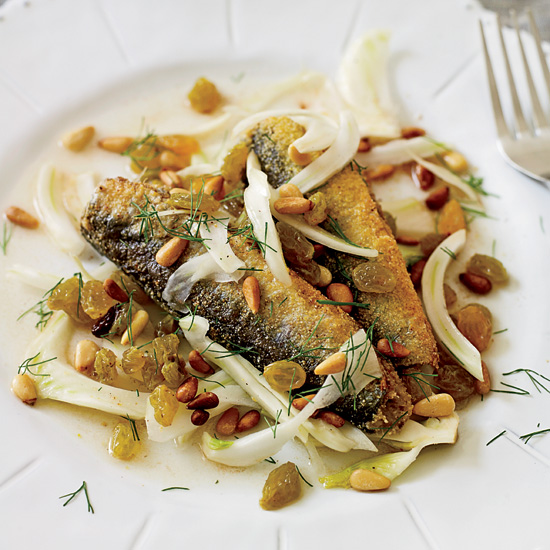 Marinated Sardines with Fennel, Raisins and Pine Nuts