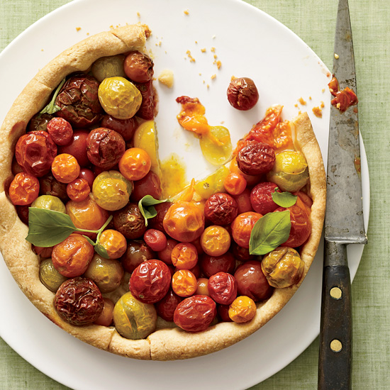 Cherry Tomato Tart with Basil
