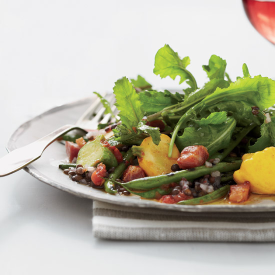 Alex Seidel: Grilled Green Bean Salad with Lentil Vinaigrette