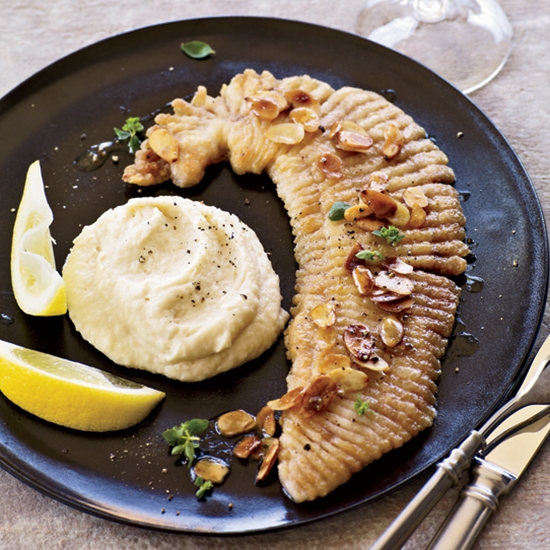 Pan-Fried Skate with Brown Butter and Parsnip Puree