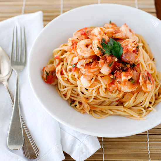 Shrimp Fra Diavolo with Vermicelli