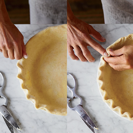 How to Make Pie Crust: Crimp Decoratively
